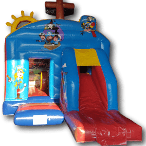 Pirate front slide bouncy castle combo for sale