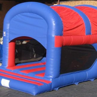 Garden play and slide bouncy castle with slide