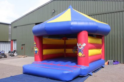 Circus theme bouncy castle front