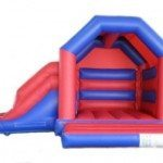 Bouncy castle side slide combo