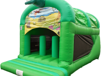 dine theme rear slide bouncy castle