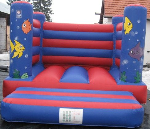Ocean theme 4x4 box bouncy castle