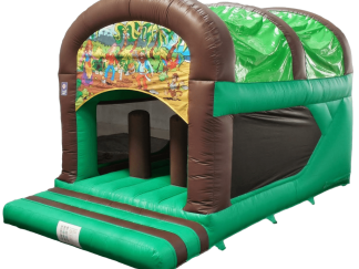 Pirate theme rear slide combo bouncy castle
