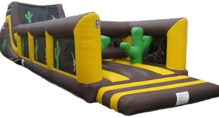 Western theme obstacle course