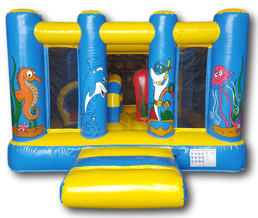 Ocean / under the sea midi bouncy castle for sale AAA1144