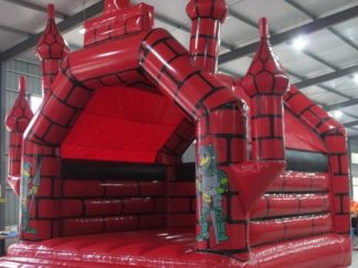Adult Bouncy Castle - Castle Red and Black 6m x 6m