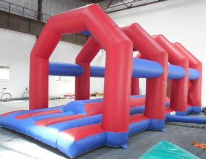 Corporate entertainment and knockout inflatable game