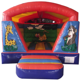 Jungle indoor bouncy castle rear front