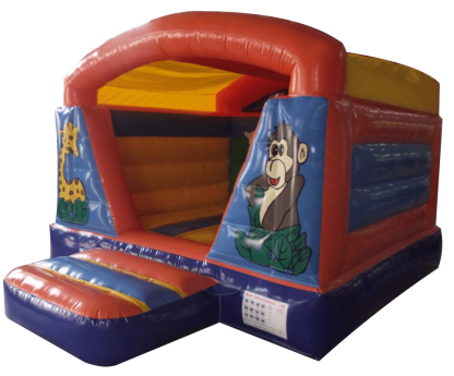 Jungle indoor bouncy castle rear front right