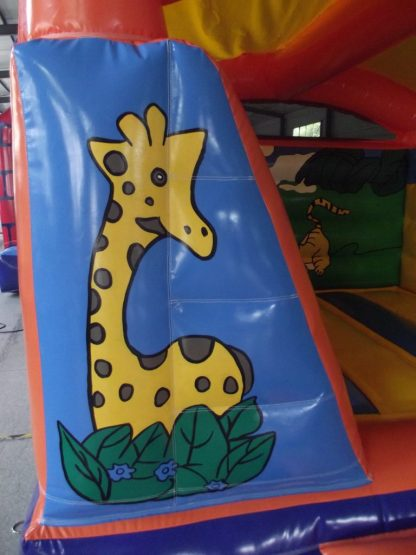 Jungle indoor bouncy castle left pillar
