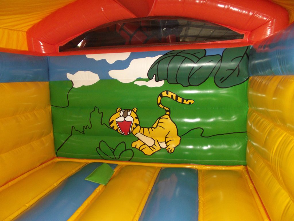 Jungle indoor bouncy castle rear inside