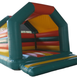 green and orange a frame bouncy castle for sale