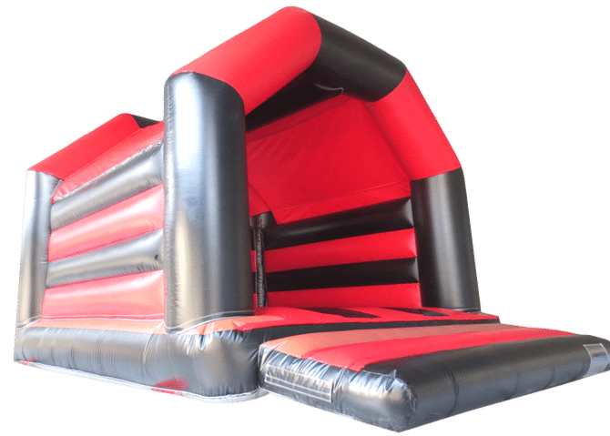 red and black a frame bouncy castle for sale