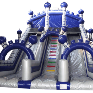 Castle Mega Slide Silver and Blue