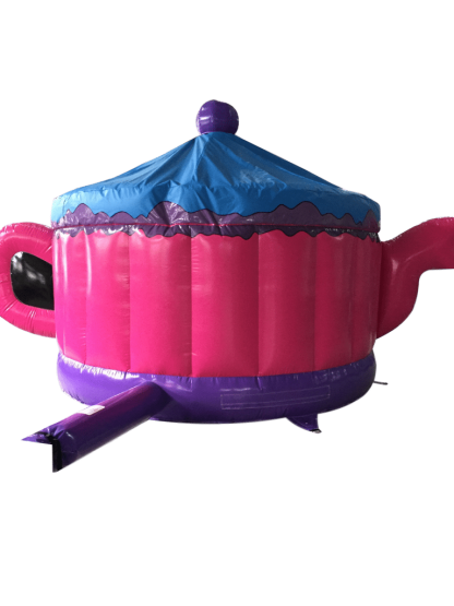 Teapot Bouncy Castle back