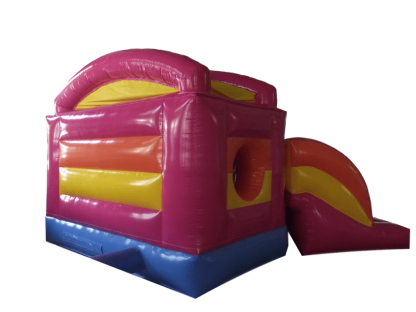 princess pentagon bouncy castle with slide