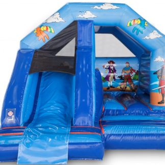 pirate front slide combo bouncy castle