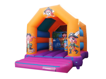 Pirate A frame bouncy castle with biff and bashes