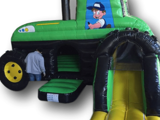 Tractor Bouncy Castle with Slide Combo AAA1356