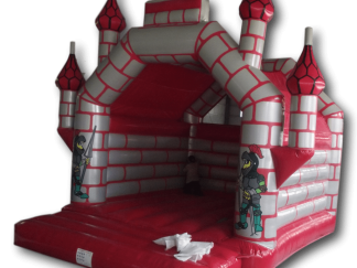 Bouncy Castle - Castle Red/Silver Adult 6m x 6m AAA1313