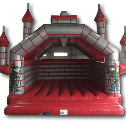 Bouncy Castle - Castle Red/Silver Adult 8m x 8m AAA1404