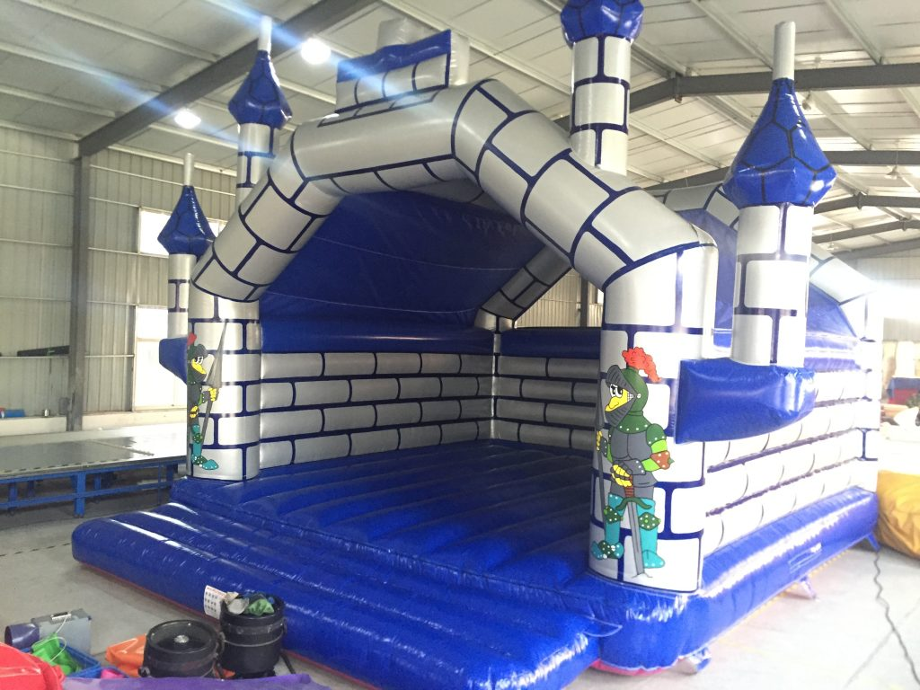Bouncy Castle - Castle Blue/Silver Adult 8m x 8m AAA1405