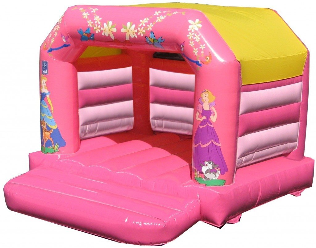 Princess low roof a-frame bouncy castle