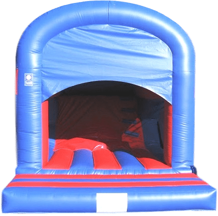 Plain Blue and Red Rear Slide Combo Bouncy Castle