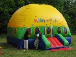 Moonwalk bouncy castle dome