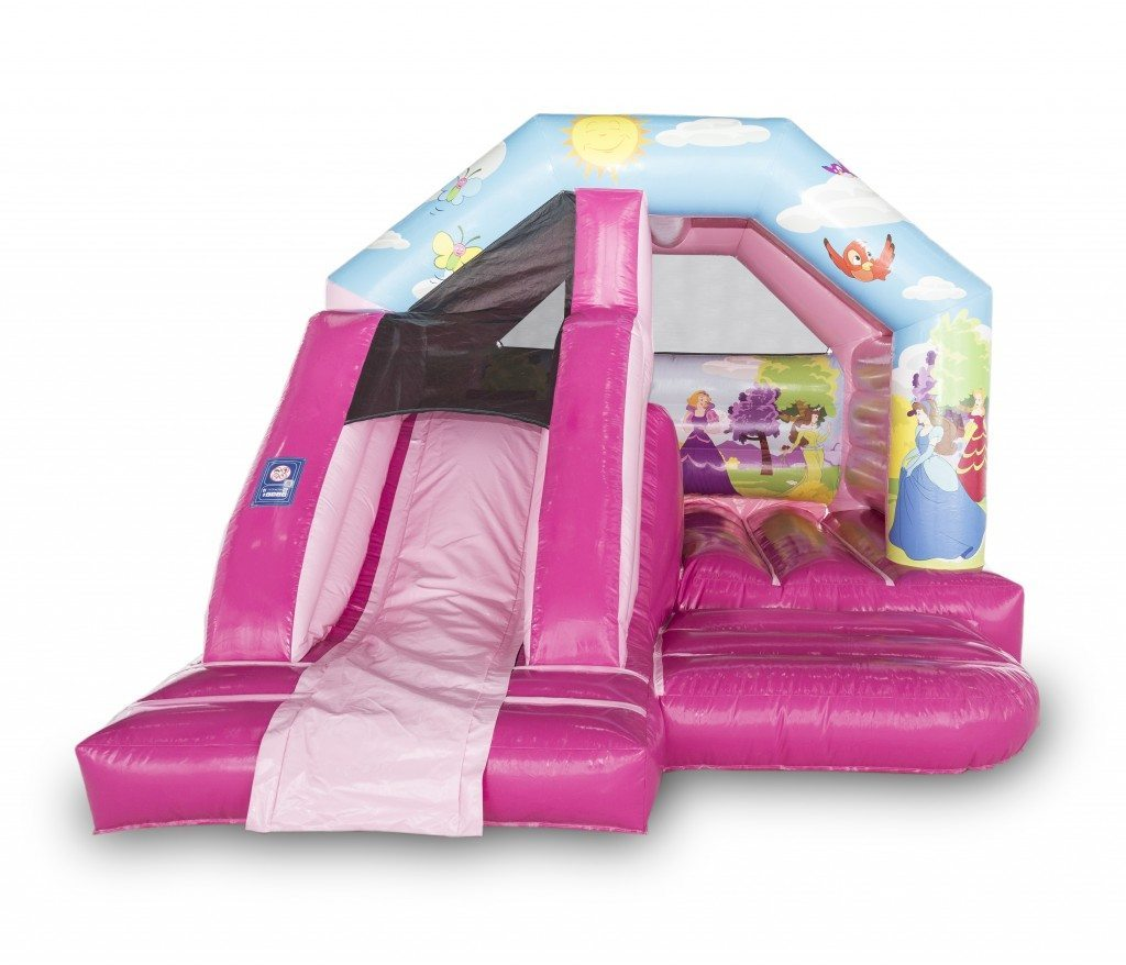 Princess Front Slide Combo Bouncy Castle