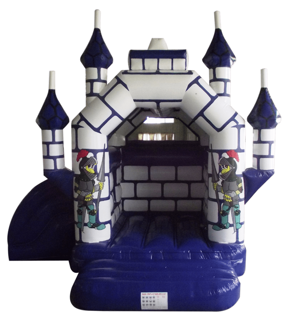 Blue and White Castle with Side Slide