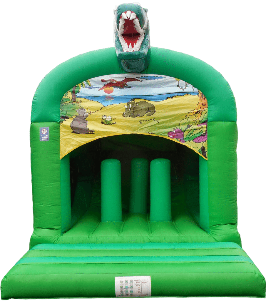 Dino Theme Rear Slide Bouncy Castle