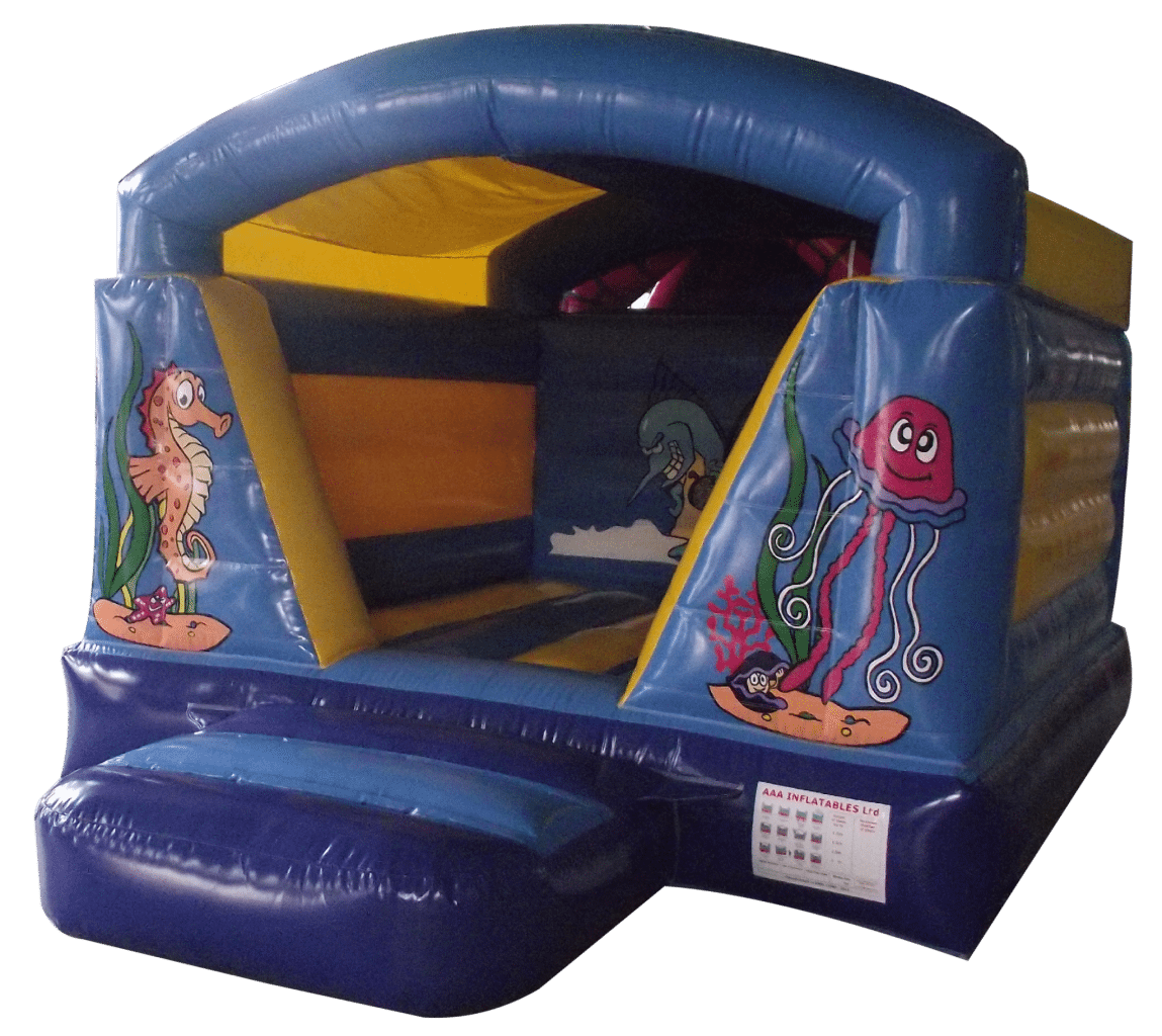 Indoor/outdoor low roofed bouncy castle hire