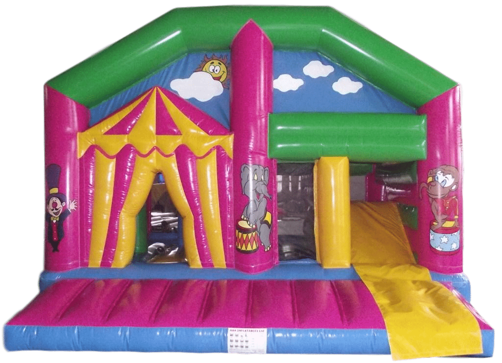 Circus Multi play Bouncy castle and activity slide