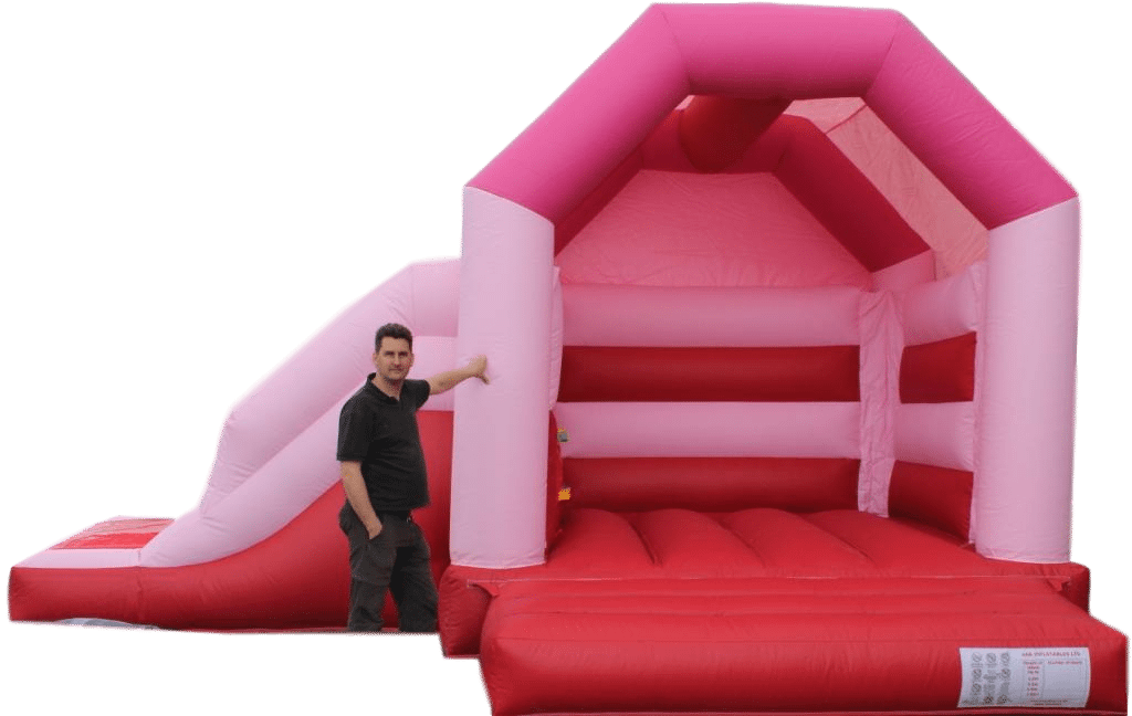 Pink Side Slide Combo Bouncy Castle