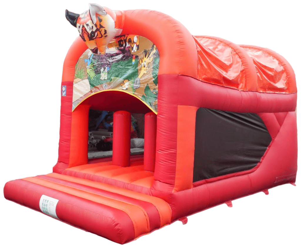 Tiger Rear Slide Combo Bouncy Castle