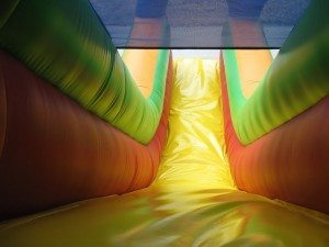 twin lane Obstacle Course hire