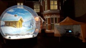 Giant Snow Globe Hire Outside