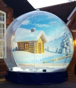 Giant Snow Globe Hire JBL