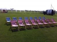 Inflatable pub extra hire item deckchairs