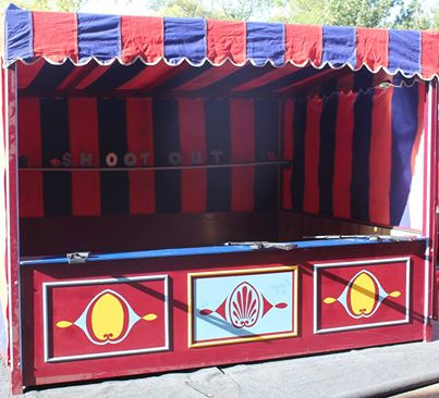 Traditional wooden and canvas side stalls for hire